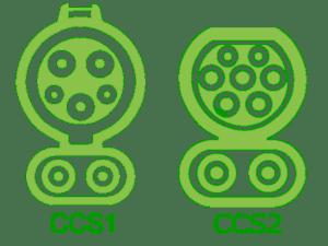 CCS1 - CCS2 Переходник